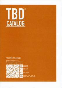 The TBD Catalog book cover.